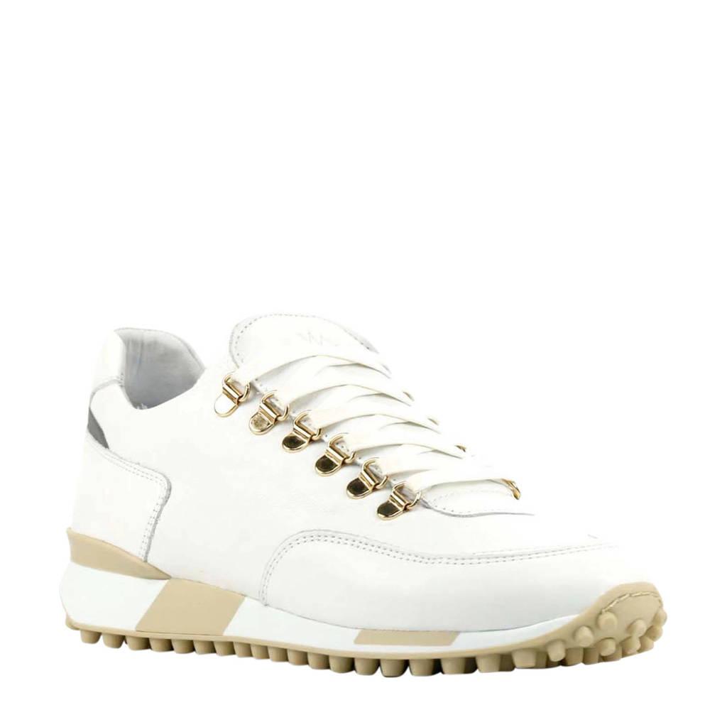 Via Vai 5412067  leren sneakers wit, Wit/goud/beige