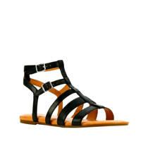 UGG Llagas  leren sandalen zwart, Zwart