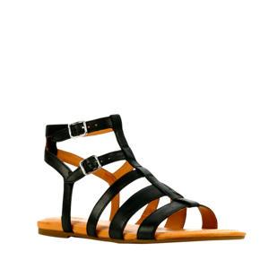 Llagas  leren sandalen zwart