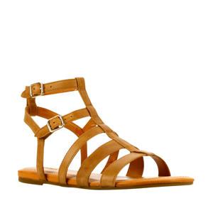 Llagas  leren sandalen bruin