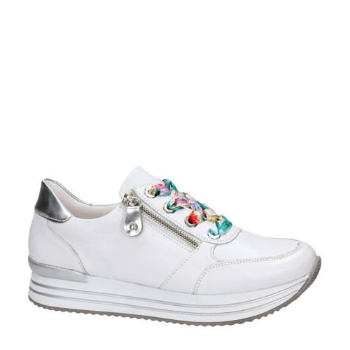 Remonte leren sneakers wit
