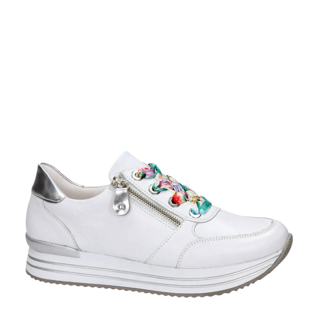 Remonte   leren sneakers wit, Wit