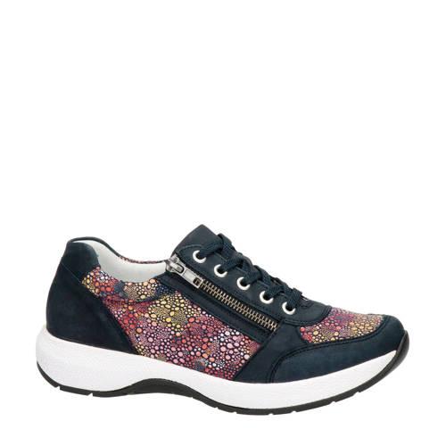 Remonte nubuck sneakers donkerblauw/multi