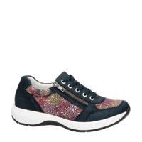 Remonte   nubuck sneakers donkerblauw/multi, Blauw/multi