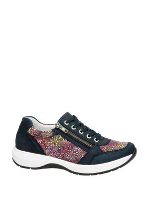 nubuck sneakers donkerblauw/multi