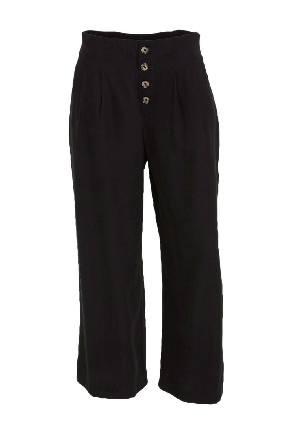 C&A Yessica high waist loose fit broek zwart, Zwart