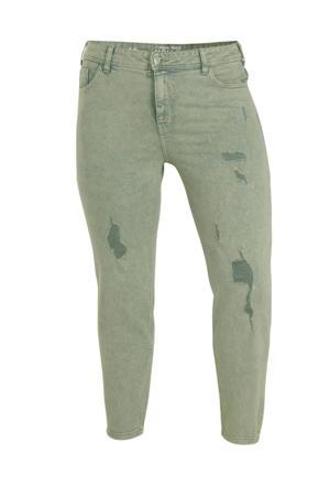 high waist mom jeans groen