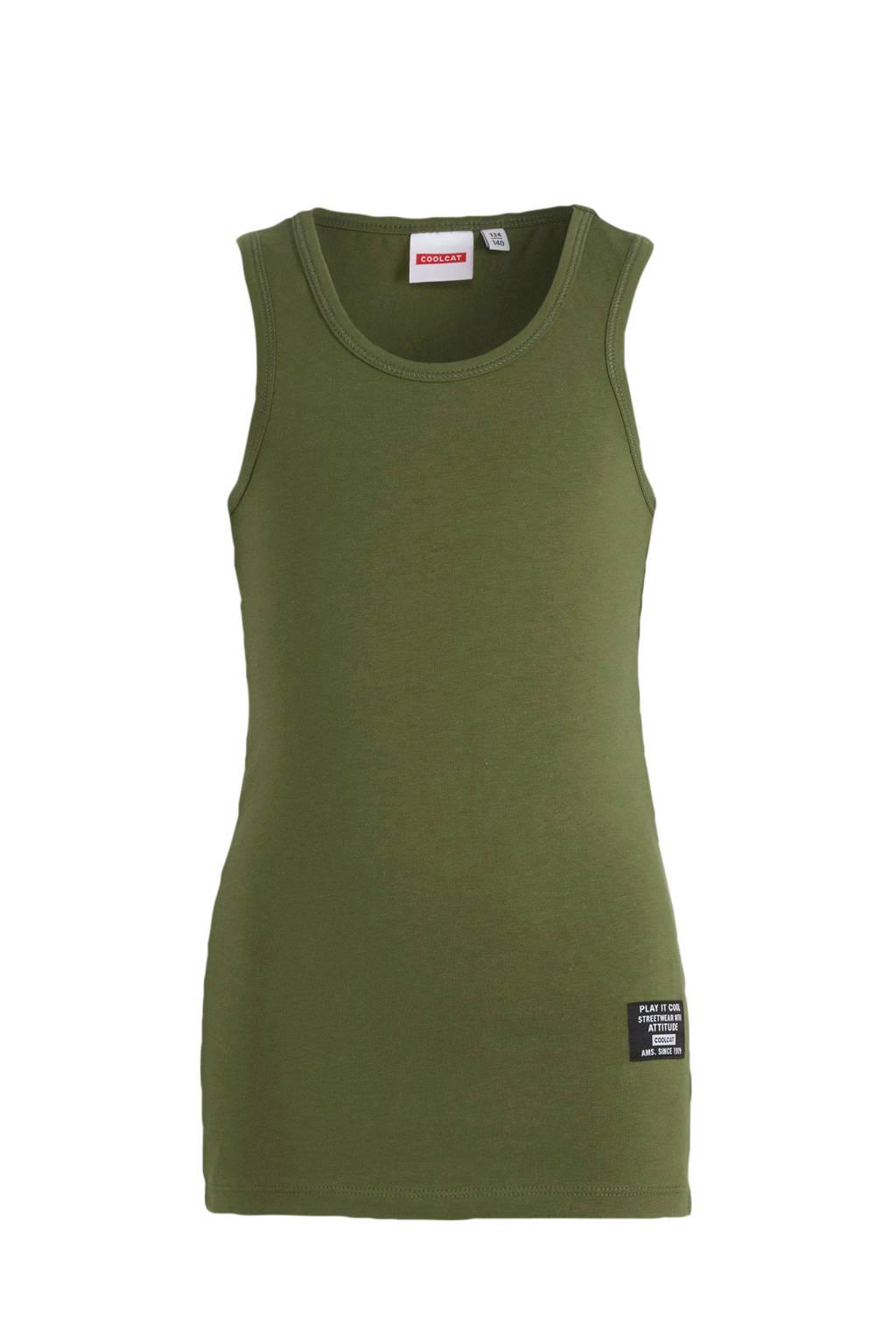 CoolCat Junior singlet Gio army groen, Army groen