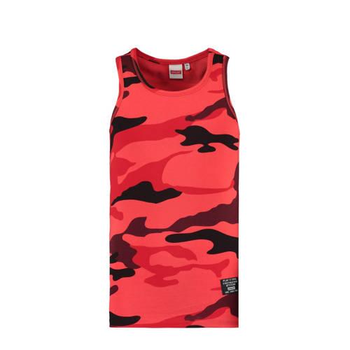 CoolCat Junior singlet Gio met camouflageprint roo