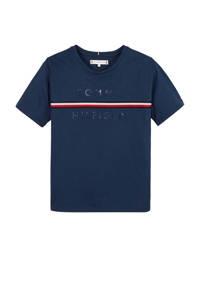 Tommy Hilfiger T-shirt met logo donkerblauw/rood/wit, Donkerblauw/rood/wit