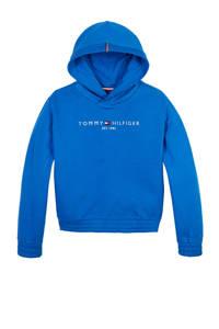 Tommy Hilfiger hoodie met logo hardblauw, Hardblauw
