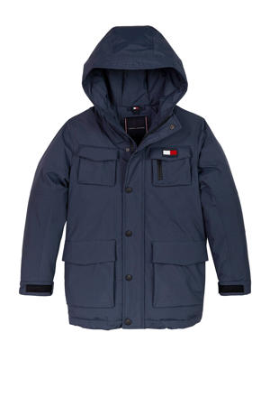 parka donkerblauw/rood/wit