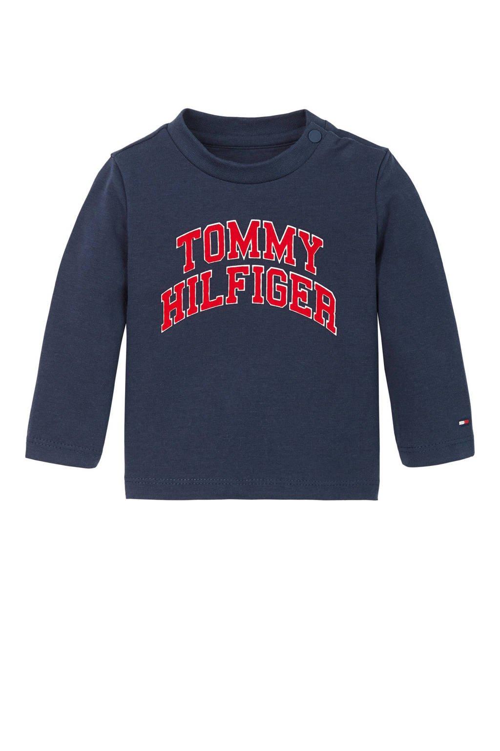 Tommy Hilfiger baby longsleeve met logo donkerblauw, Donkerblauw