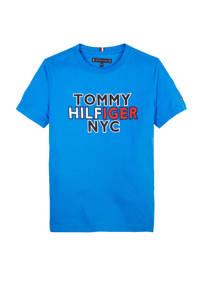 Tommy Hilfiger T-shirt met logo hardblauw/donkerblauw/rood, Hardblauw/donkerblauw/rood
