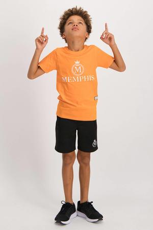 short Ramos met logo zwart