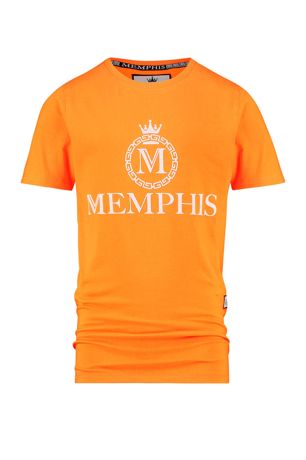 Vingino Memphis Depay T-shirt Halvez met logo oranje, Oranje
