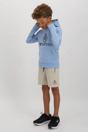 hoodie Narcado met logo lichtblauw