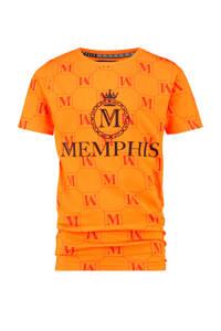 Vingino Memphis Depay T-shirt Hersie met printopdruk oranje, Oranje