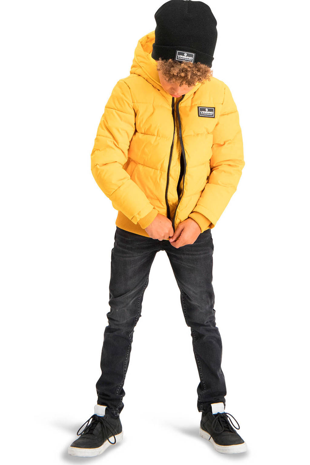 Vingino gewatteerde winterjas Tanju geel, Geel