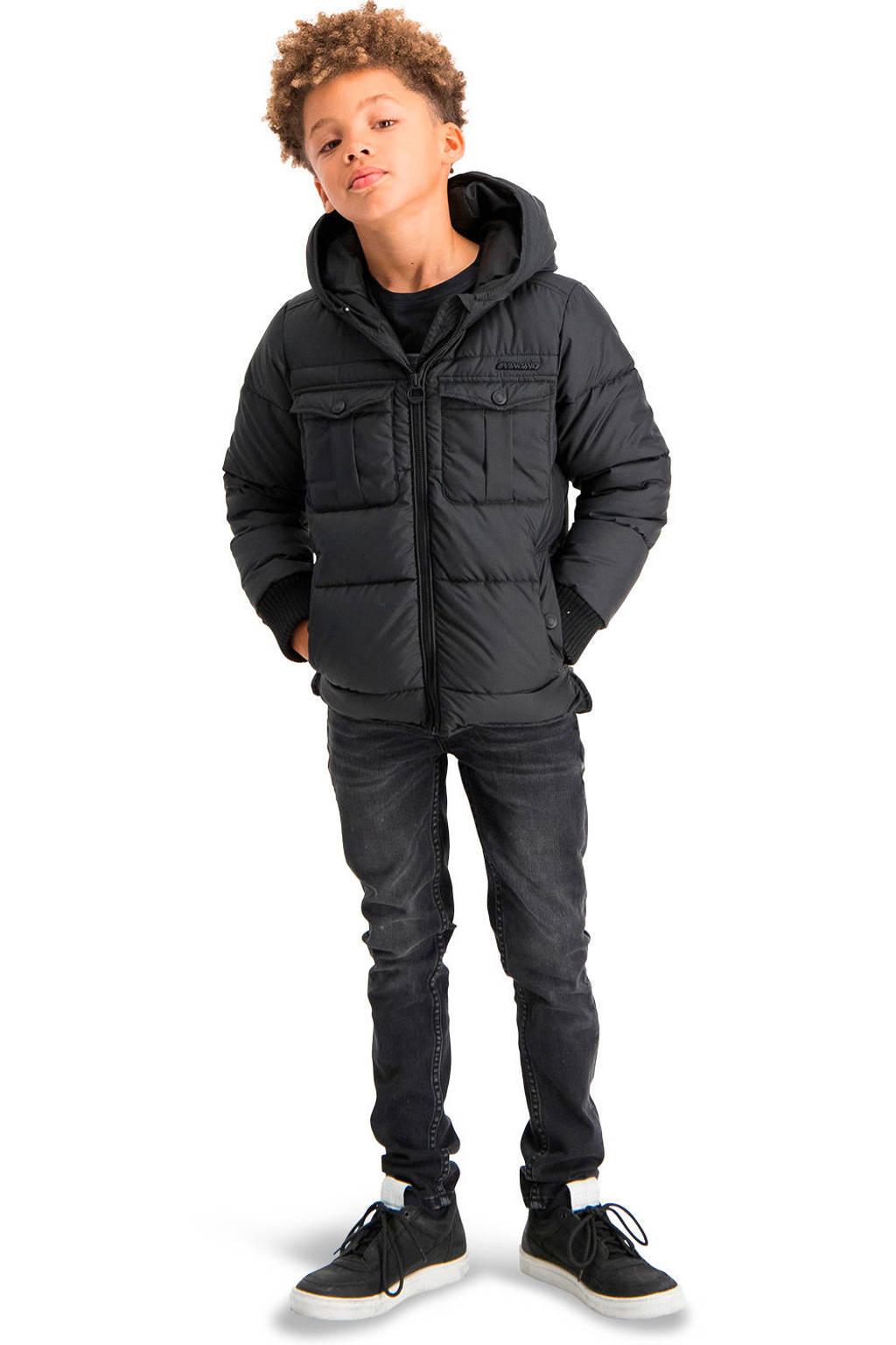 Vingino gewatteerde winterjas Traboa zwart, Zwart