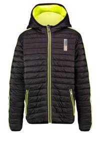 Vingino reversible gewatteerde winterjas Than zwart/geel, Zwart/geel