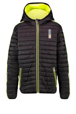 reversible gewatteerde winterjas Than zwart/geel