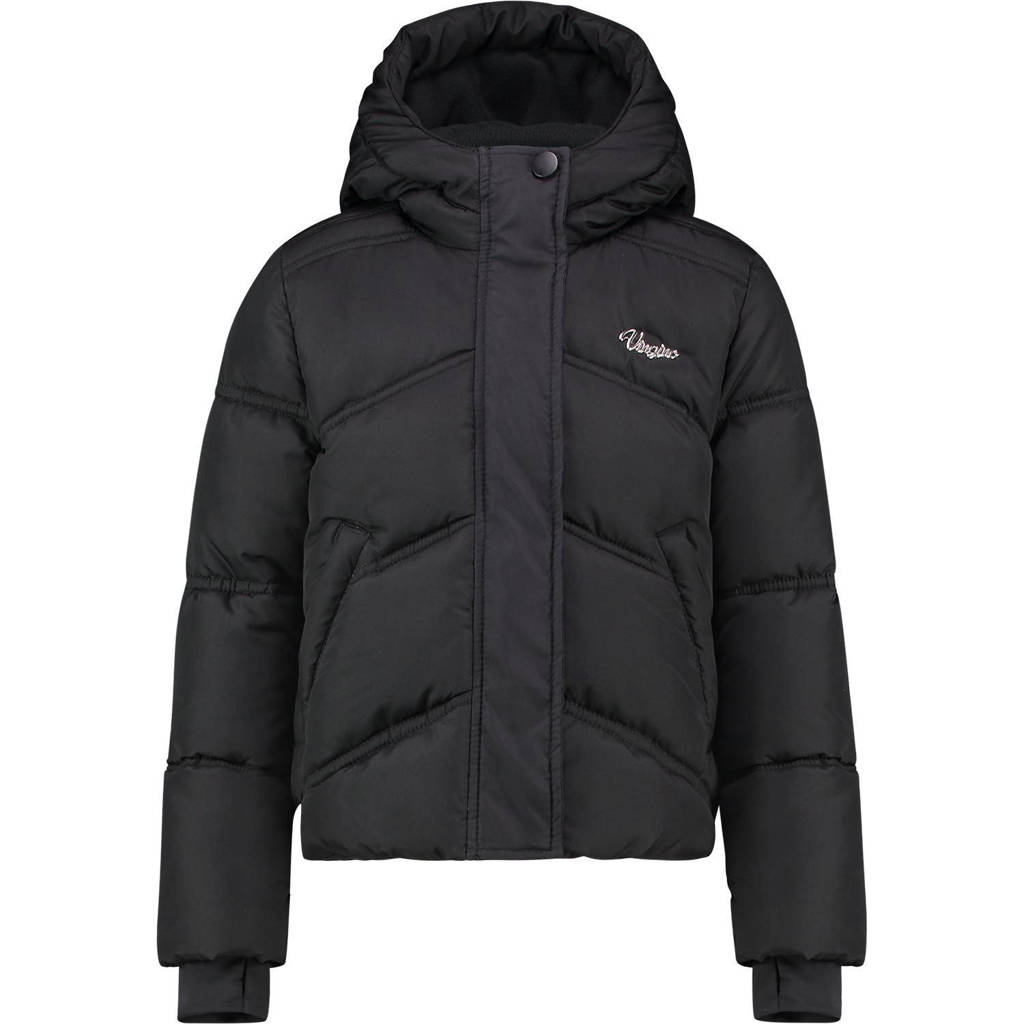 Vingino gewatteerde jas Tiganne zwart, Zwart