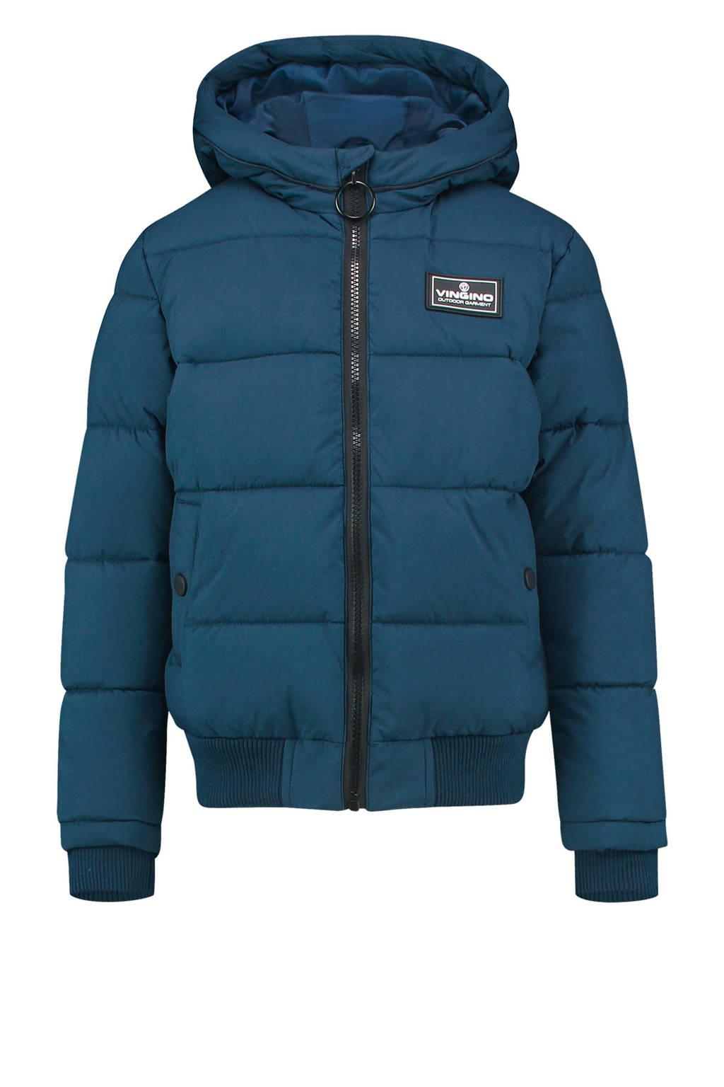 Vingino gewatteerde winterjas Tanju donkerblauw, Donkerblauw