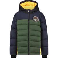 Vingino gewatteerde winterjas Talph groen/donkerblauw/fel oranje, Groen/donkerblauw/fel oranje