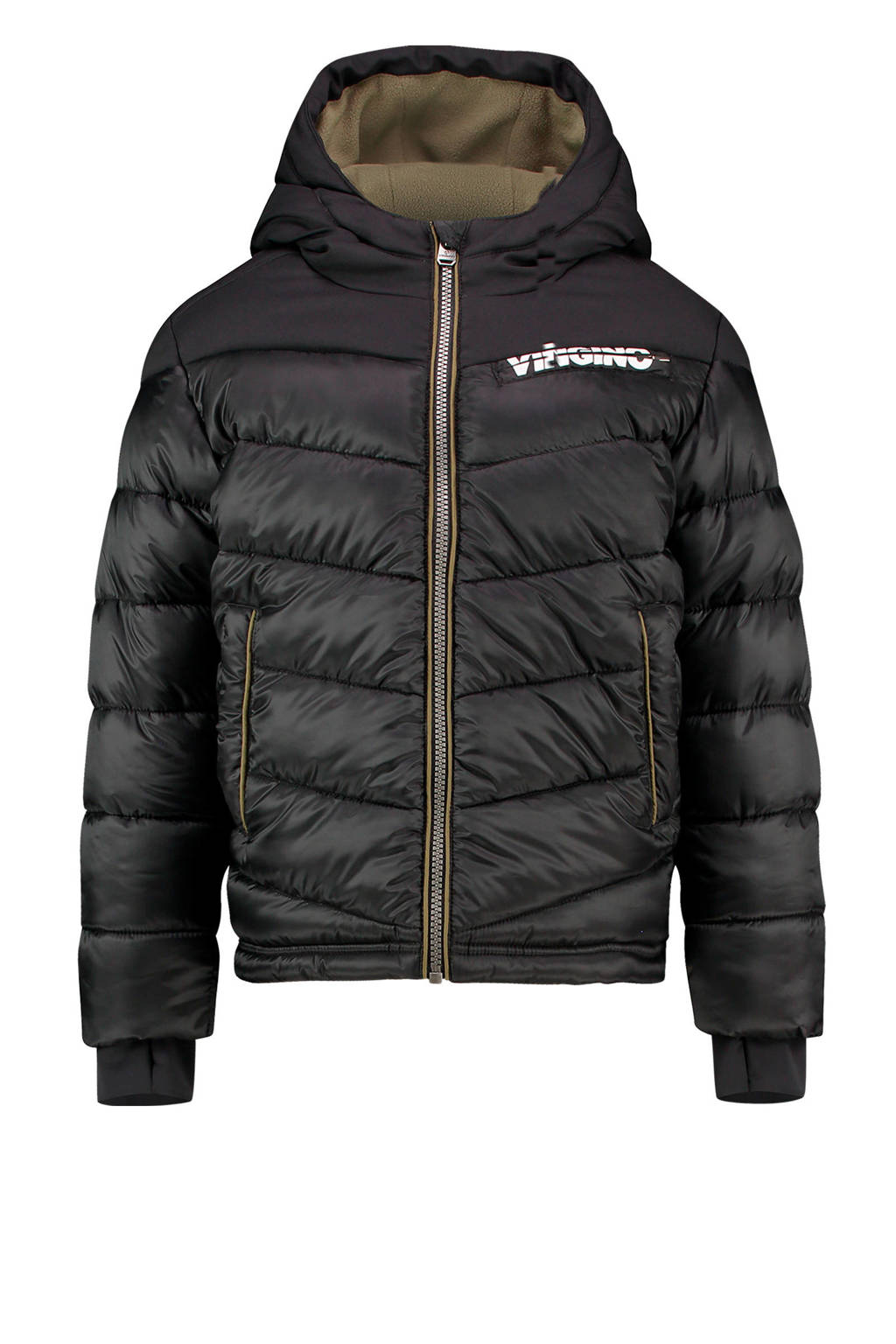 Vingino gewatteerde winterjas Tugra zwart, Zwart