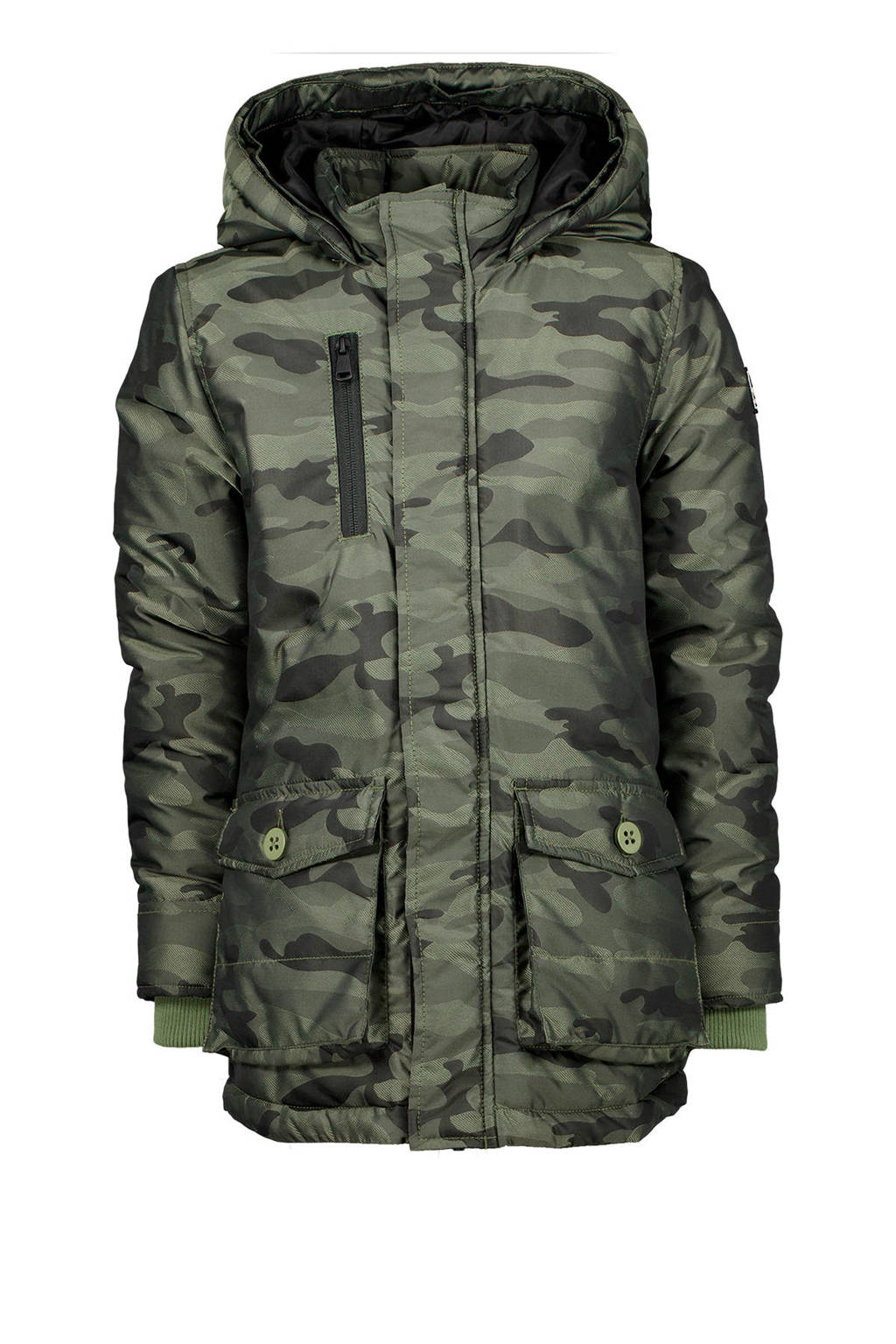 Vingino winter parka Ther met camouflageprint army groen, Army groen