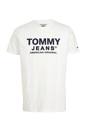 T-shirt met logo ecru