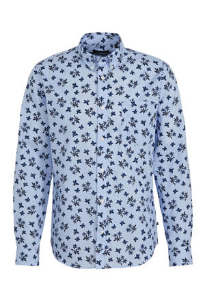 regular fit overhemd met all over print blauw