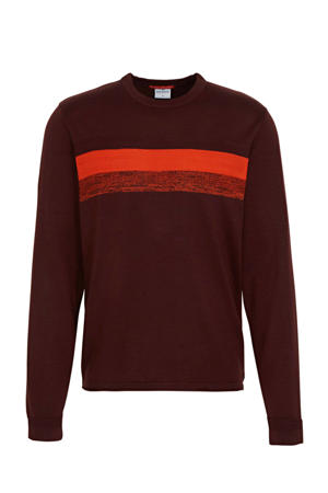 fijngebreide trui roodbruin