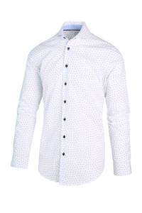 Blue Industry regular fit overhemd met all over print wit/lichtblauw, Wit/lichtblauw