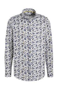 Blue Industry regular fit overhemd met all over print wit/blauw/grijs, Wit/blauw/grijs