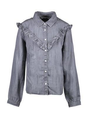 blouse Meday met ruches grijs
