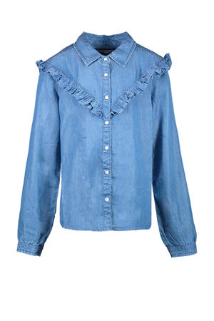 blouse Meday met ruches blue used