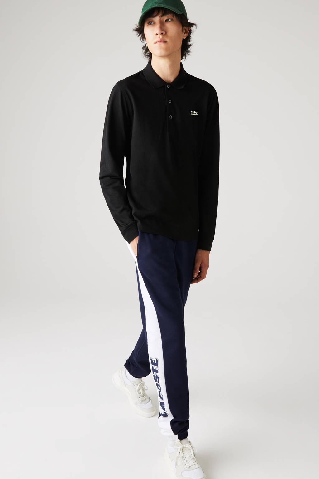 Lacoste regular fit polo zwart, Zwart