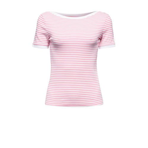 edc Women gestreept T-shirt roze/wit