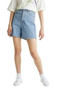 edc Women high waist jeans short blauw, Blauw