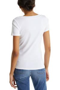 edc Women T-shirt van biologisch katoen wit, Wit