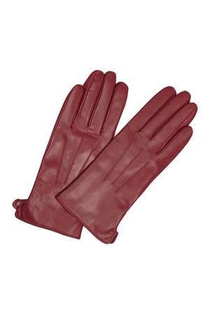 leren handschoenen Corianna donkerrood