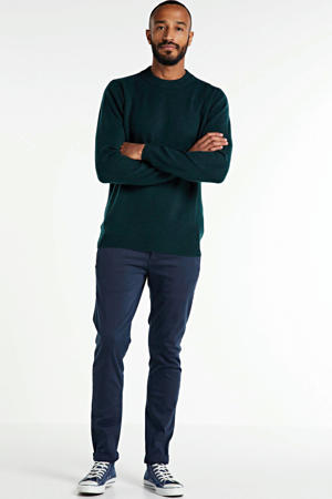 slim fit chino Zeumar donkerblauw
