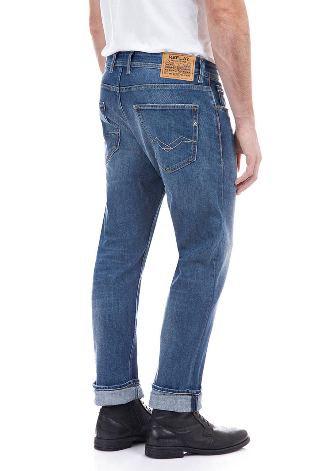REPLAY straight fit jeans Grover medium blue, Medium blue