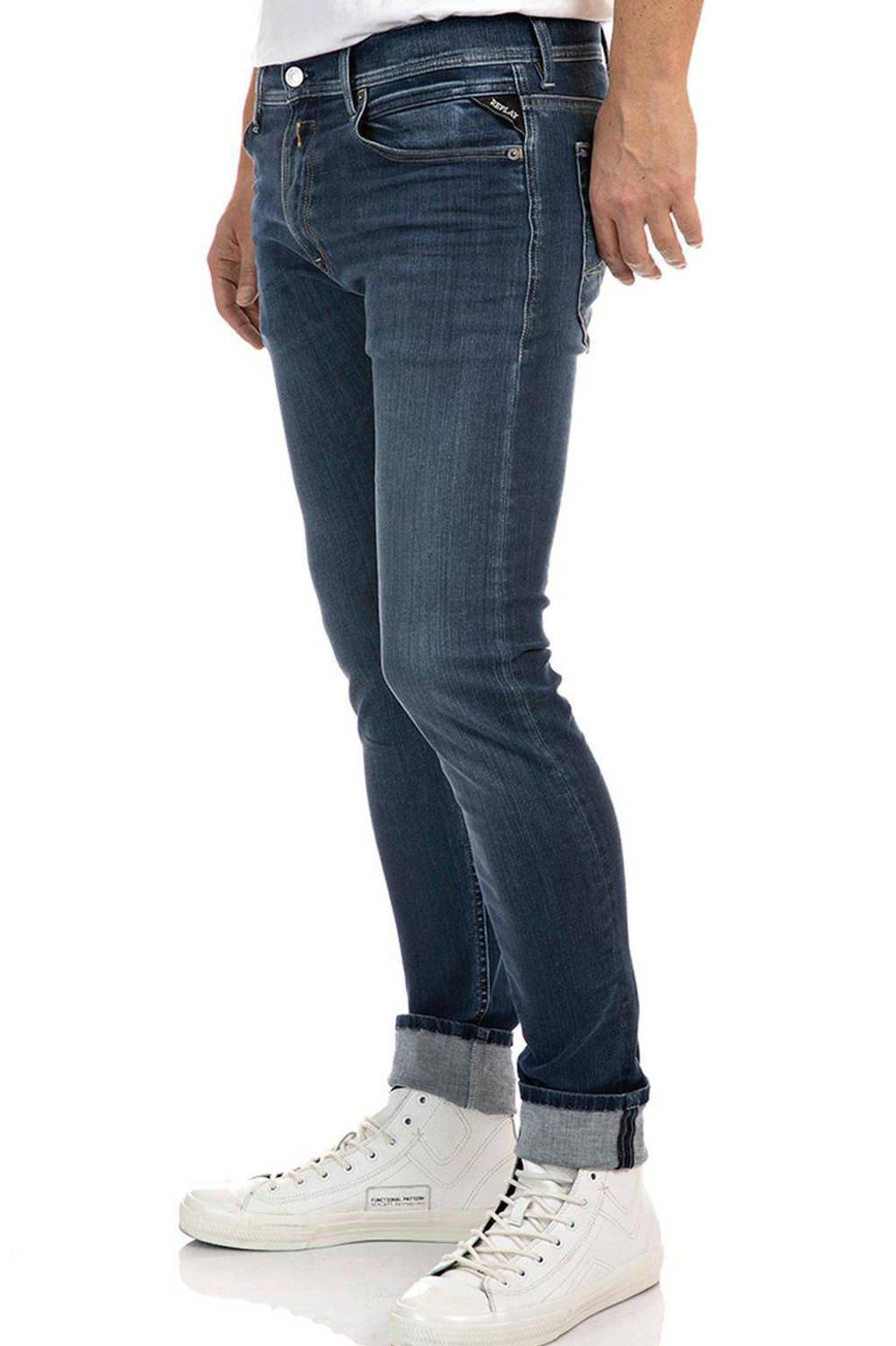 REPLAY slim fit jeans Anbass Hyperflex dark blue, Dark Blue