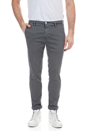 slim fit chino Zeumar grijs