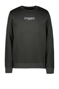 Cars sweater Hemser met printopdruk donkergroen, Donkergroen