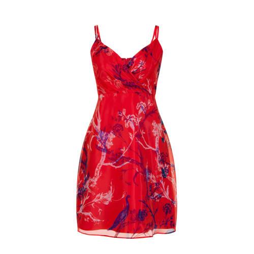Steps jurk met all over print rood paars