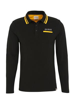 regular fit polo zwart/geel